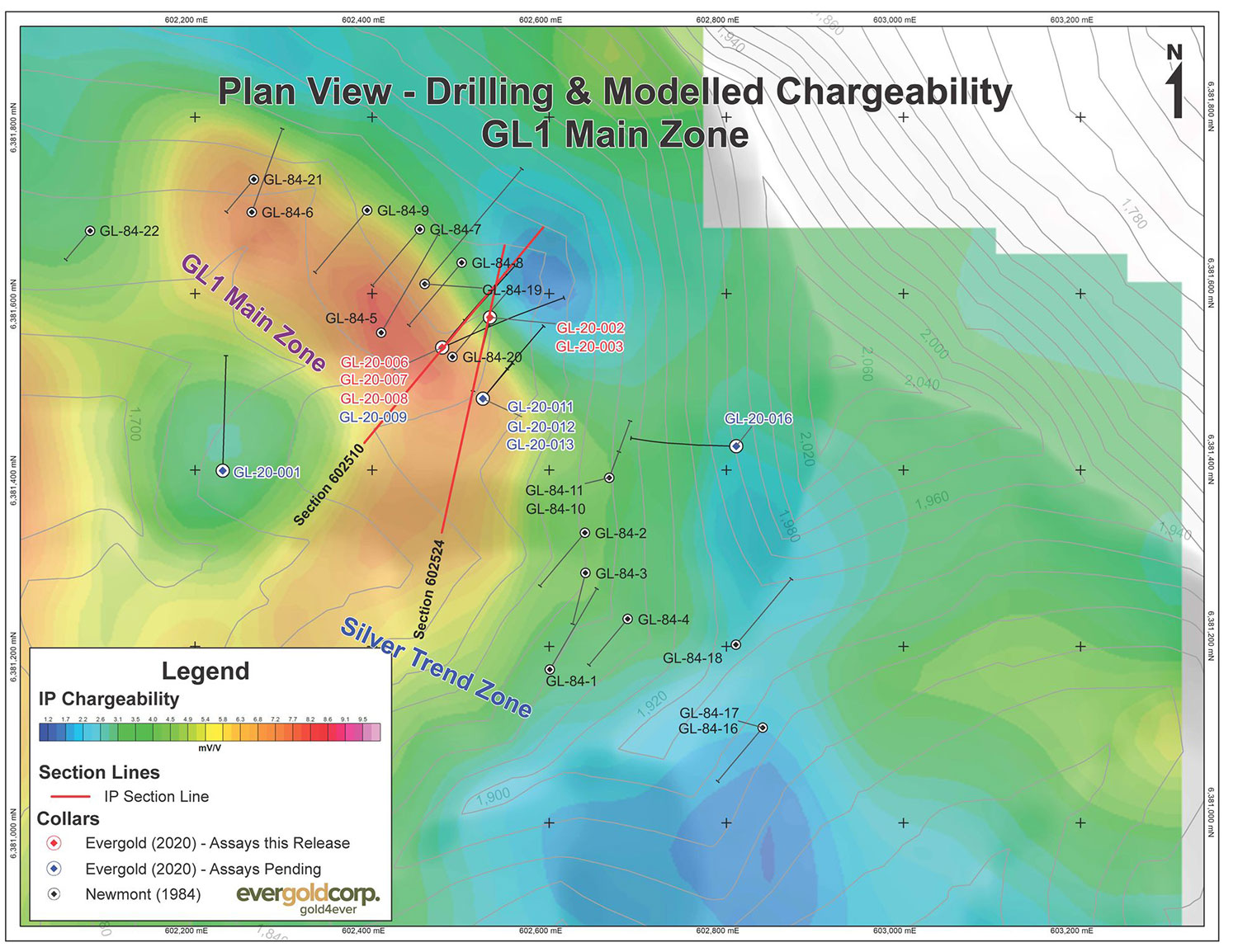 chargeability plan views